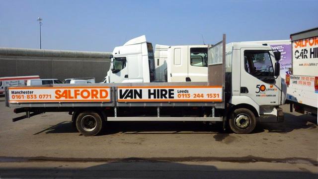 hire a 7 5t gvw dropsided truck salford van hire. Black Bedroom Furniture Sets. Home Design Ideas