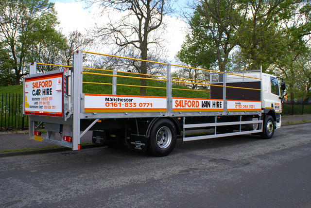 hire a 17 18 tonne gvw dropsided truck with tail lift. Black Bedroom Furniture Sets. Home Design Ideas