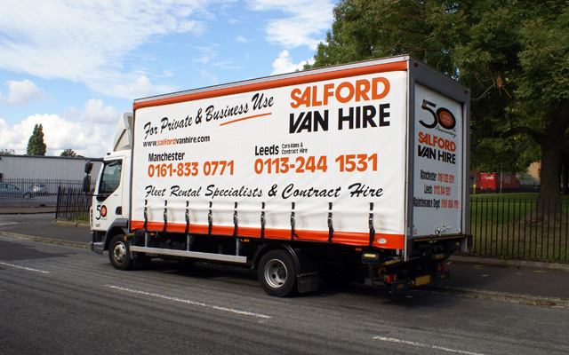 hire a 7 5t gvw curtainsided with tail liftt salford van. Black Bedroom Furniture Sets. Home Design Ideas