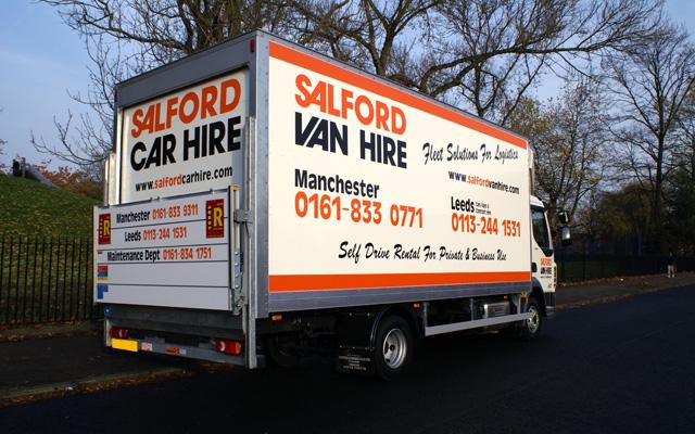 hire a 7 5t gvw box van with tail lift salford van hire. Black Bedroom Furniture Sets. Home Design Ideas