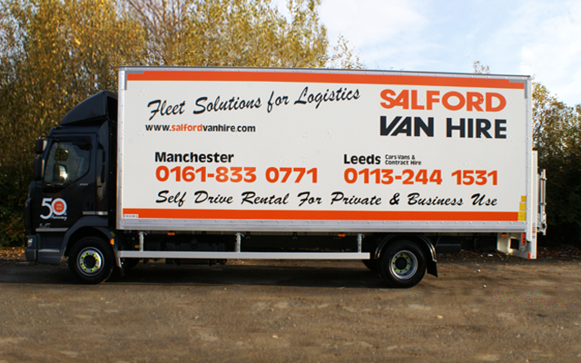 Hire a 12T GVW Box Van with Tail Lift