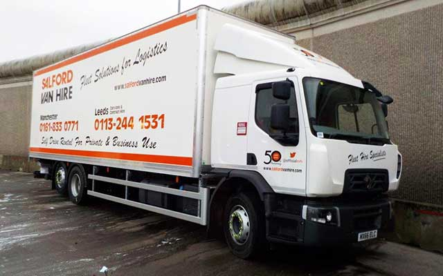 Hire a 26T GVW 6x2 Rigid Box Van With Tail Lift